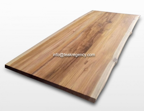 Get a luxury touch with live edge teak wood table tops and suar wood table