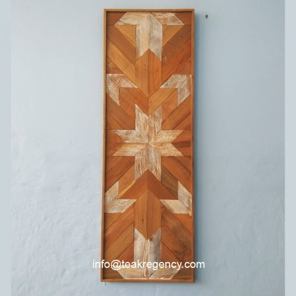 Wood wall decoration