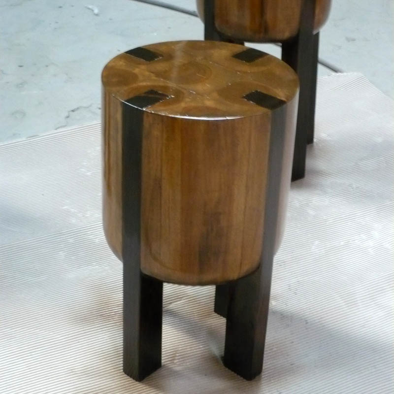 Driftwood Teak Table: Round Lamp Table · Reclaimed Teak Root And Recycled Teak
